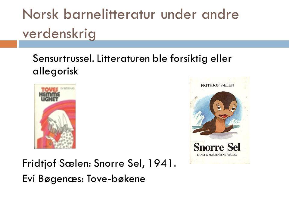 Norsk barnelitteratur under andre verdenskrig