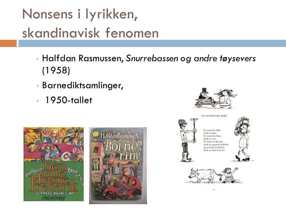Nonsens i lyrikken, skandinavisk fenomen