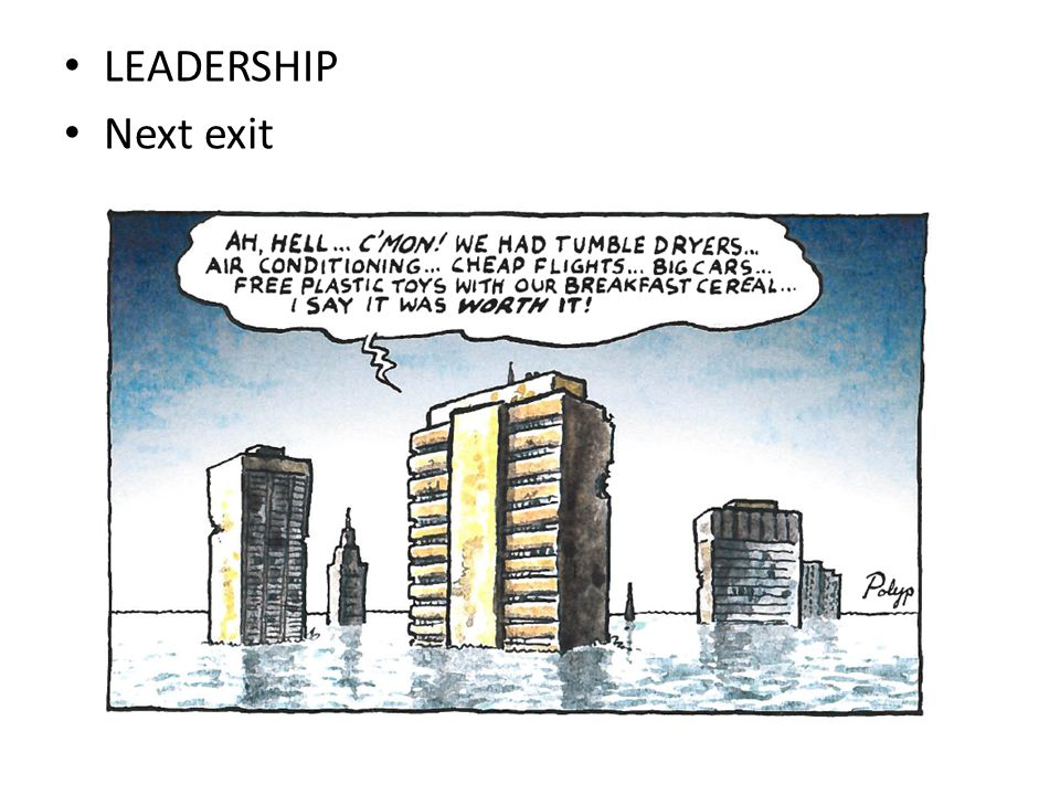 LEADERSHIP Next exit