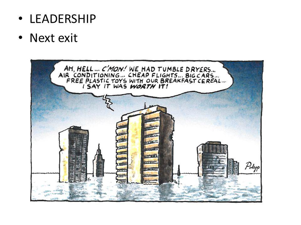 LEADERSHIP Next exit