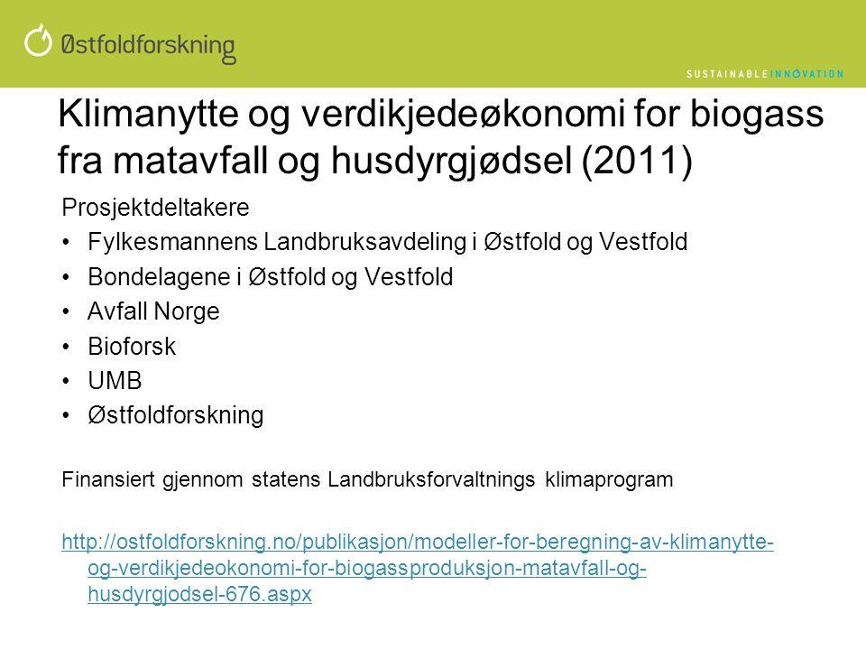 Klimanytte og verdikjedeøkonomi for biogass fra matavfall og husdyrgjødsel (2011)