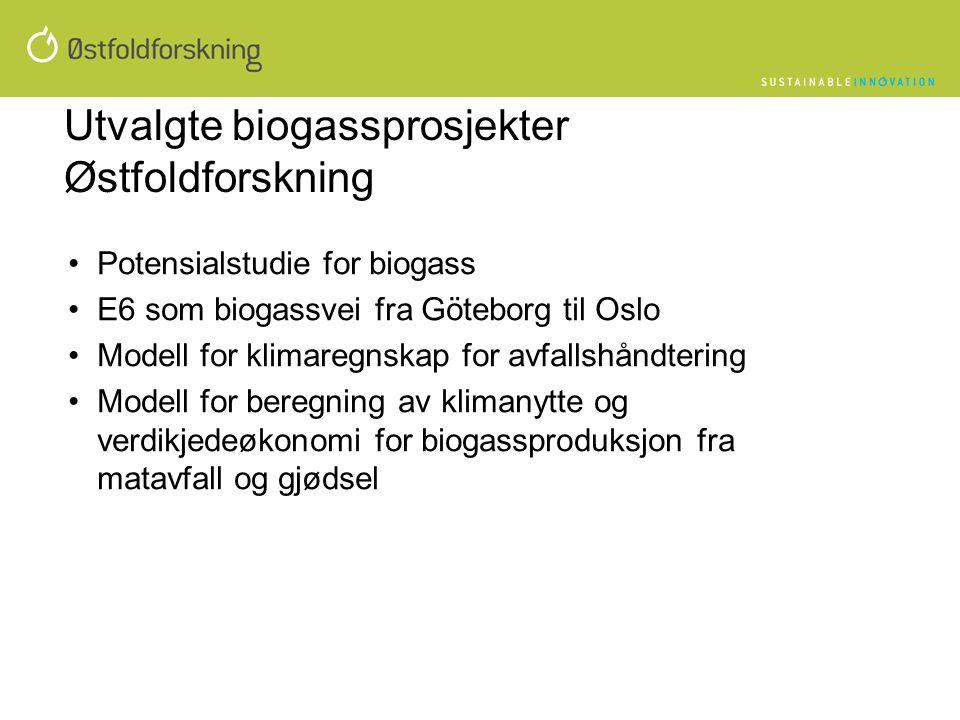 Utvalgte biogassprosjekter Østfoldforskning