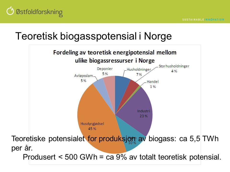 Teoretisk biogasspotensial i Norge