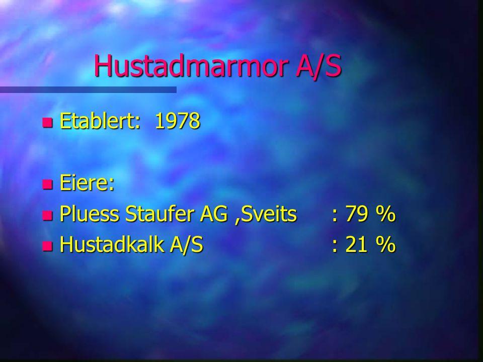 Hustadmarmor A/S Etablert: 1978 Eiere: