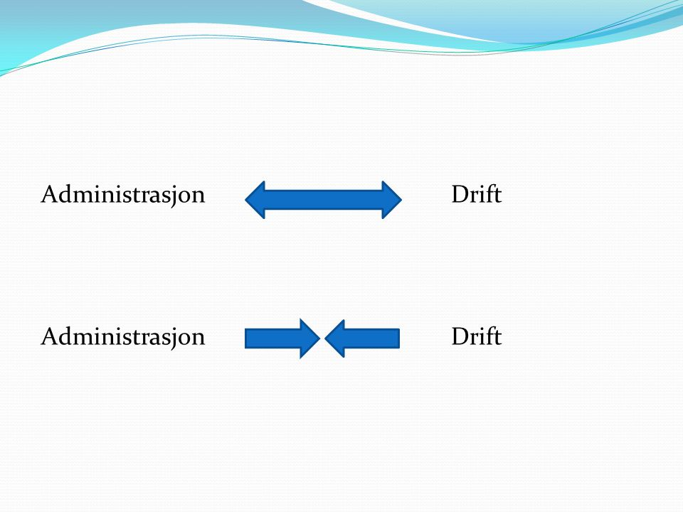 Administrasjon Drift