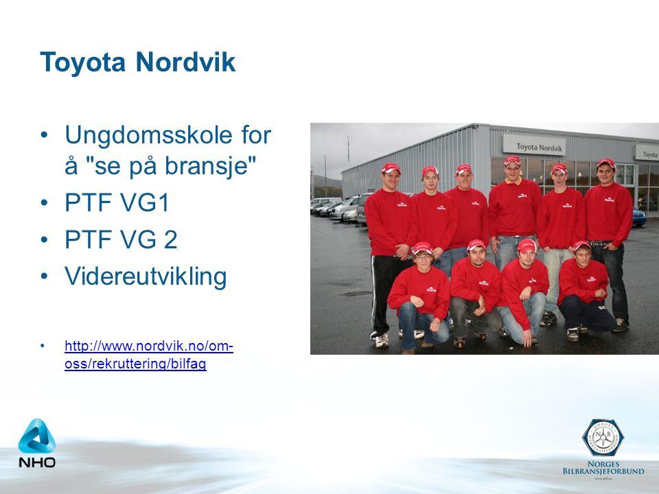 Toyota Nordvik Ungdomsskole for å se på bransje PTF VG1 PTF VG 2