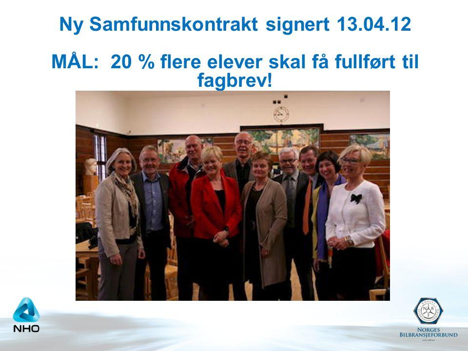 Ny Samfunnskontrakt signert 13.04.12