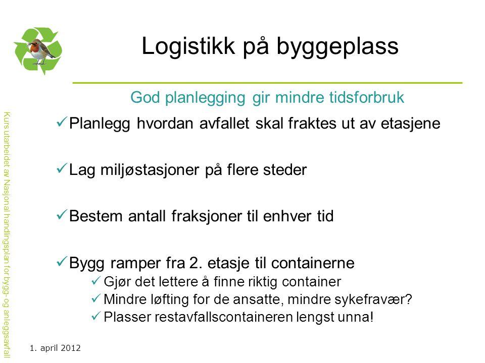 Logistikk på byggeplass