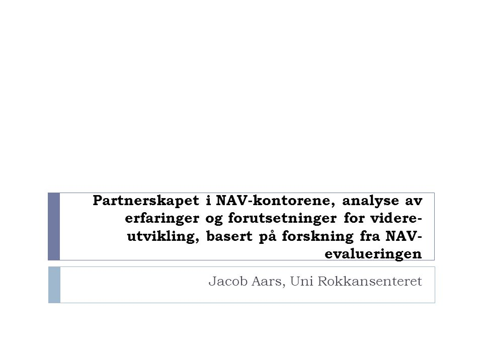 Jacob Aars, Uni Rokkansenteret
