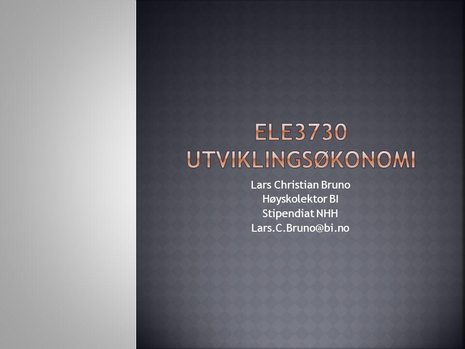 ELE3730 Utviklingsøkonomi