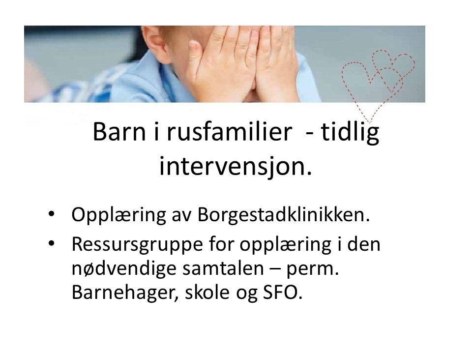 Barn i rusfamilier - tidlig intervensjon.