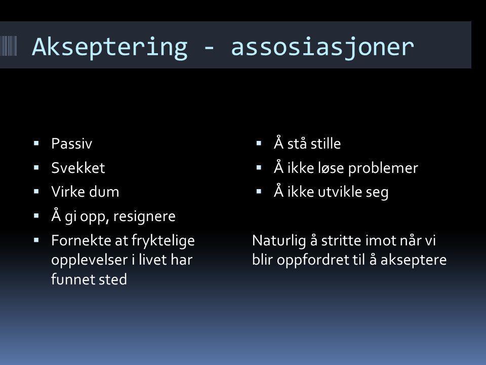 Akseptering - assosiasjoner