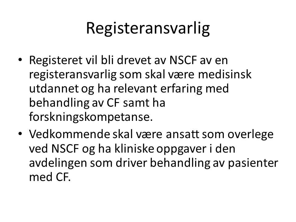 Registeransvarlig