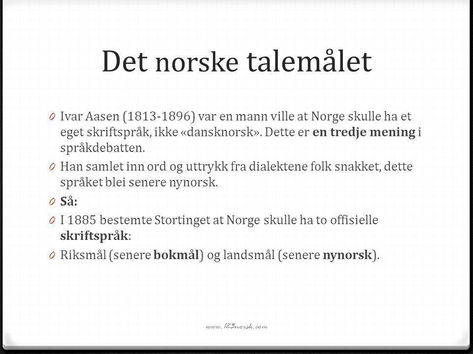 Det norske talemålet
