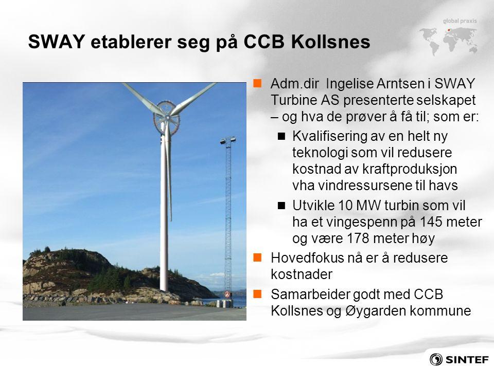 SWAY etablerer seg på CCB Kollsnes