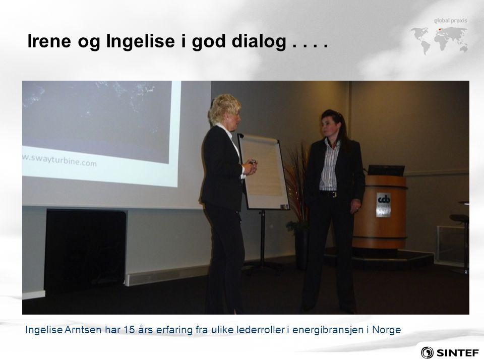 Irene og Ingelise i god dialog . . . .