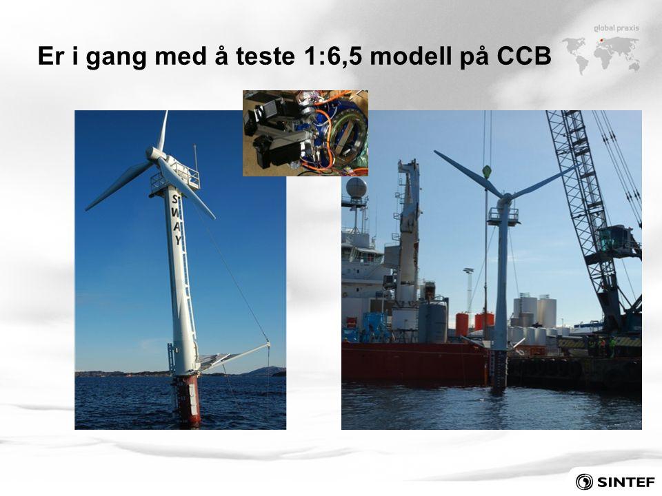 Er i gang med å teste 1:6,5 modell på CCB