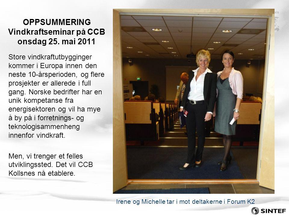 OPPSUMMERING Vindkraftseminar på CCB onsdag 25. mai 2011
