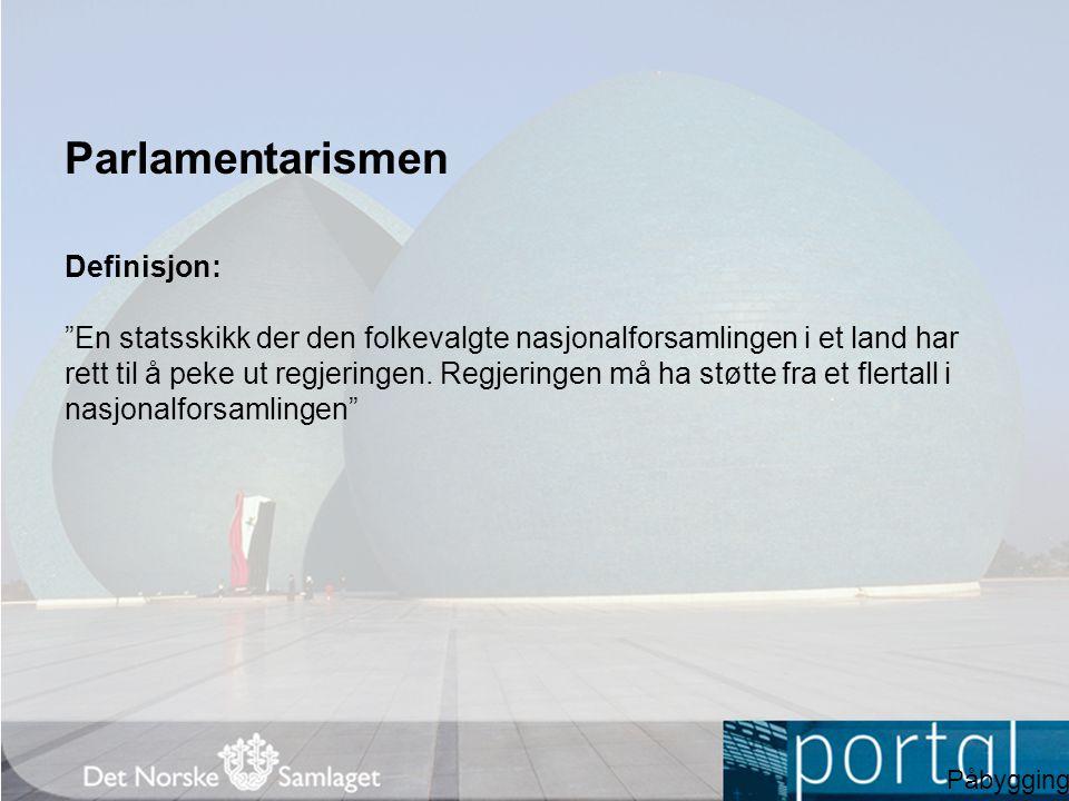 Parlamentarismen Definisjon:
