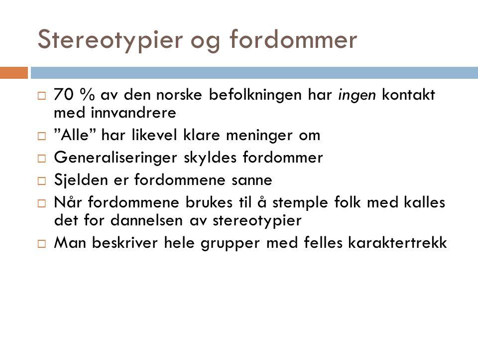 Stereotypier og fordommer