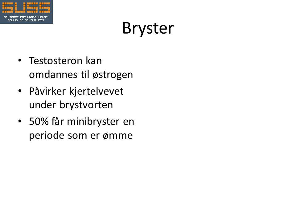 Bryster Testosteron kan omdannes til østrogen
