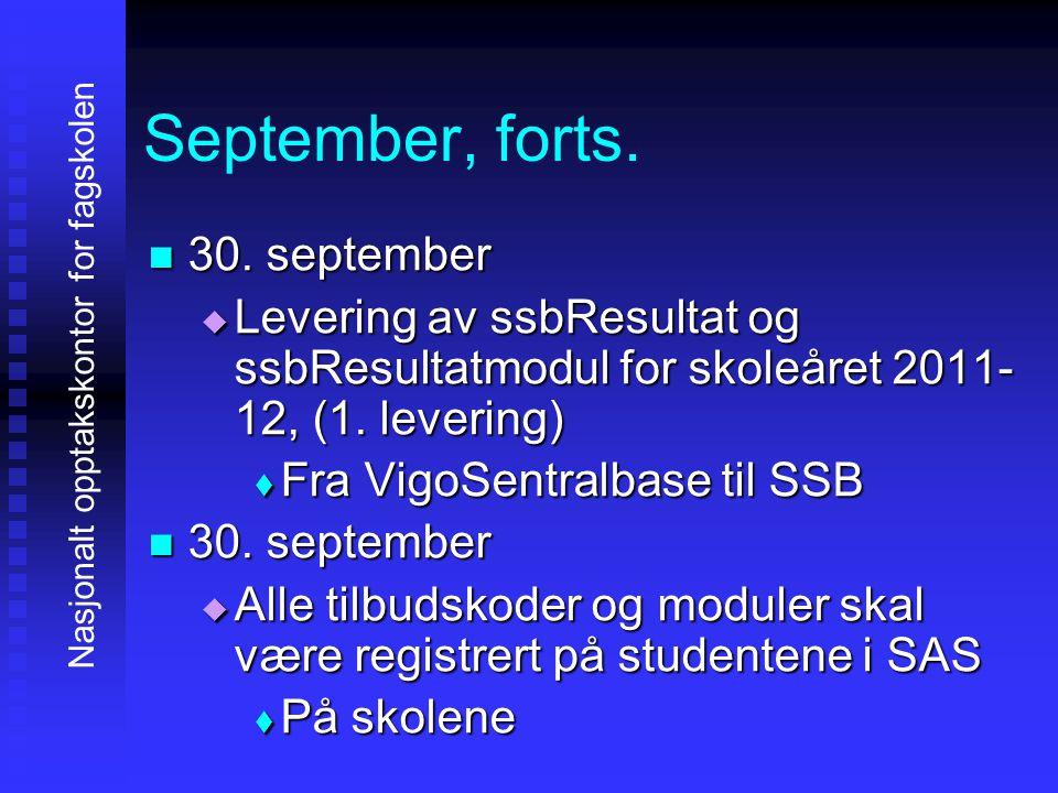 September, forts. 30. september