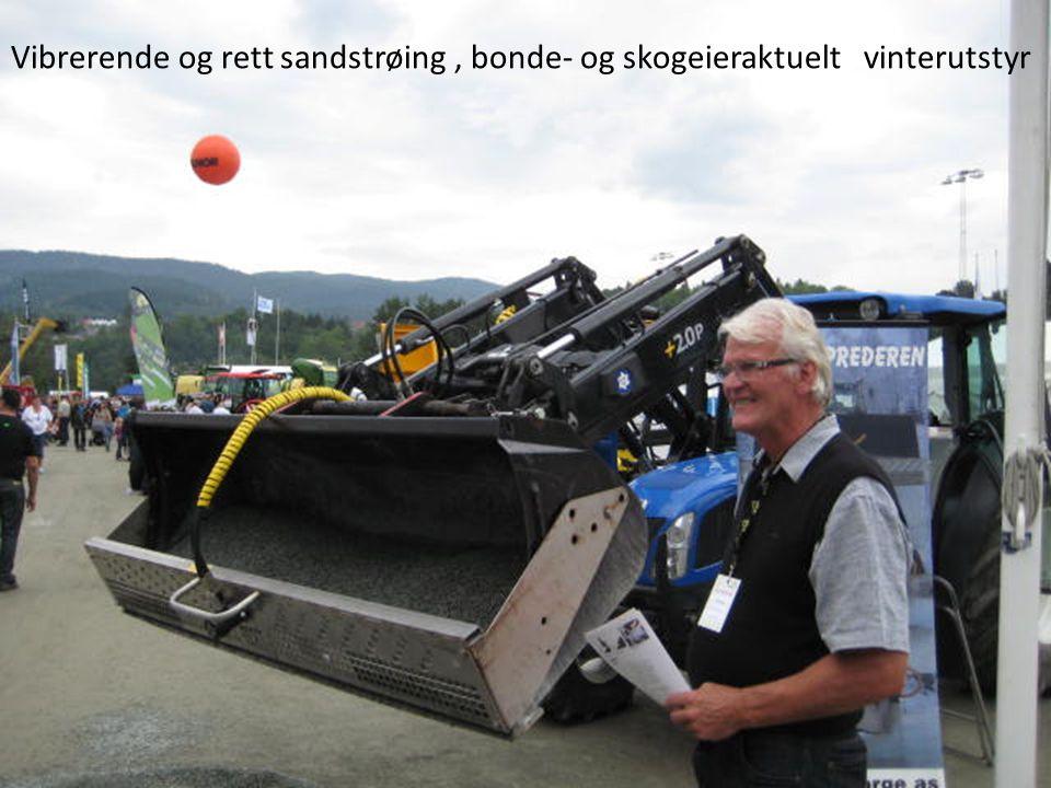 Vibrerende og rett sandstrøing , bonde- og skogeieraktuelt vinterutstyr