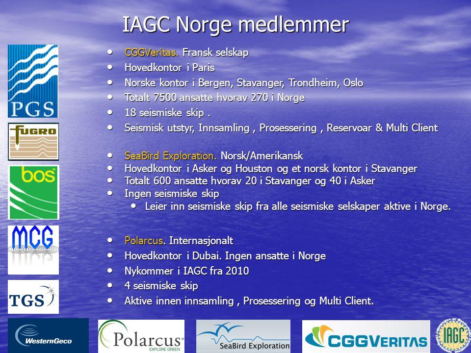 IAGC Norge medlemmer CGGVeritas. Fransk selskap Hovedkontor i Paris