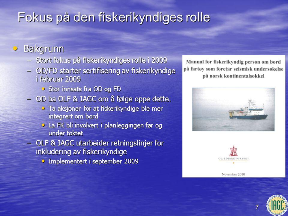Fokus på den fiskerikyndiges rolle