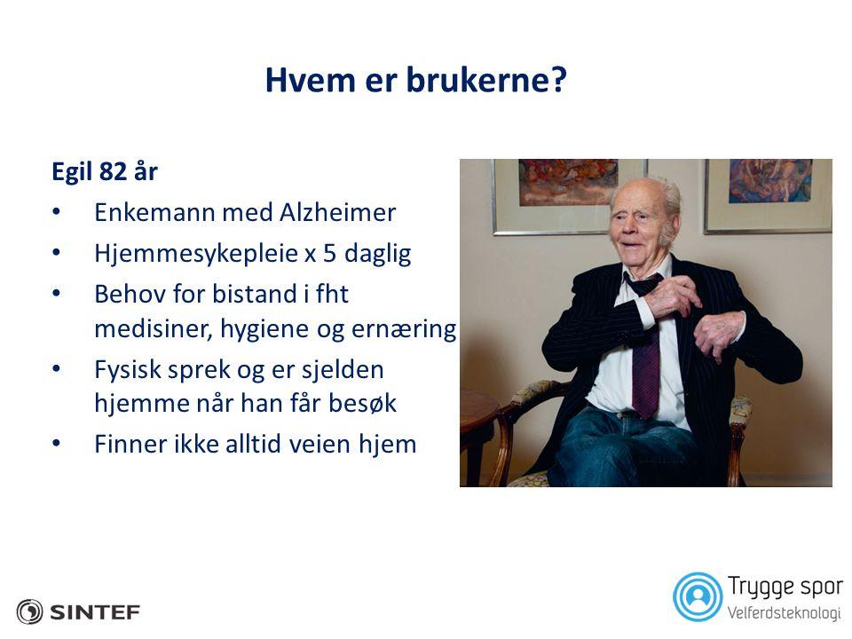 Hvem er brukerne Egil 82 år Enkemann med Alzheimer