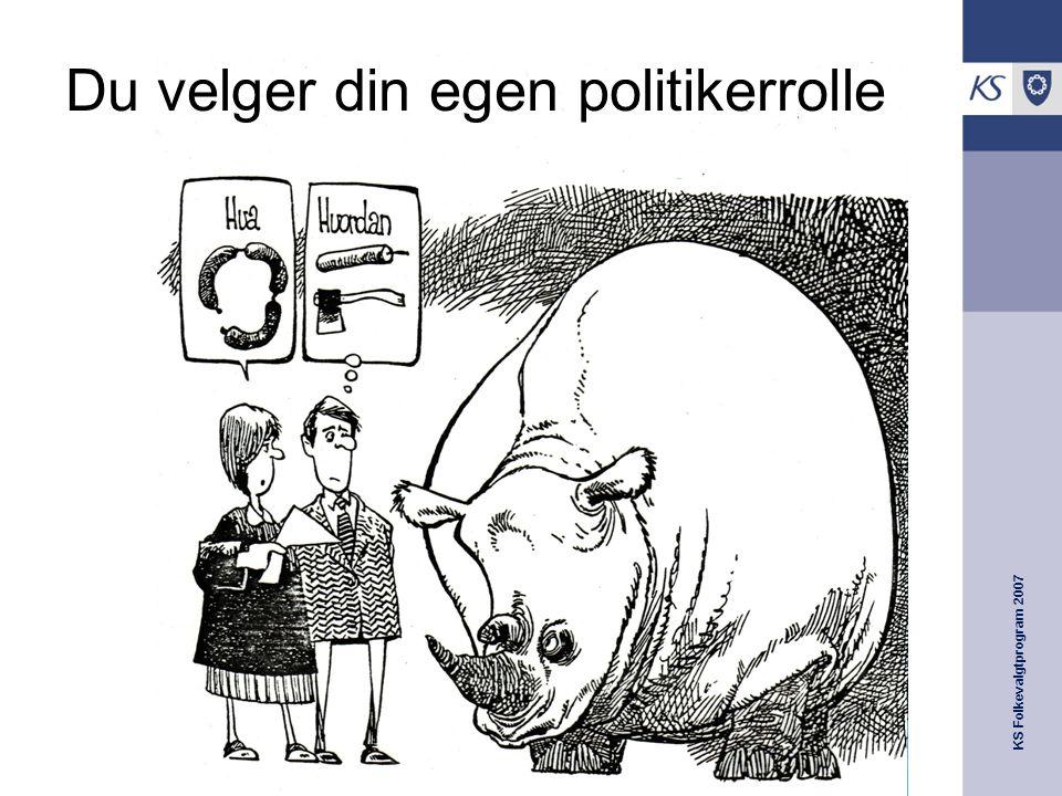 Du velger din egen politikerrolle