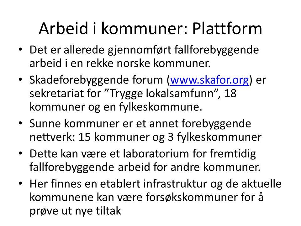 Arbeid i kommuner: Plattform
