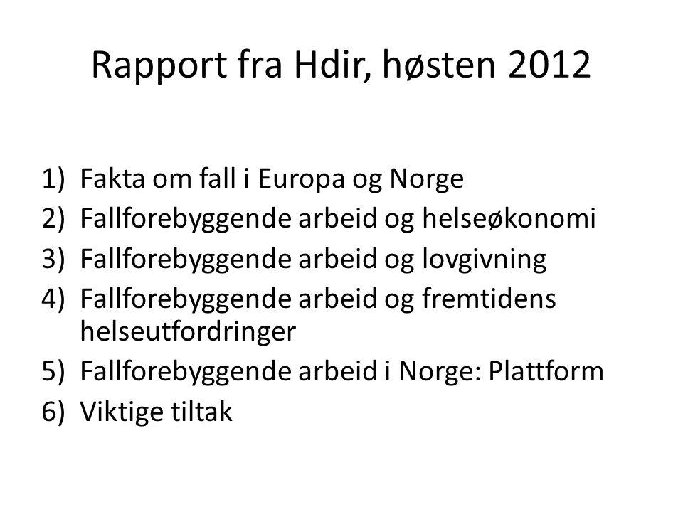 Rapport fra Hdir, høsten 2012