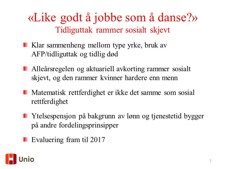 «Like godt å jobbe som å danse »