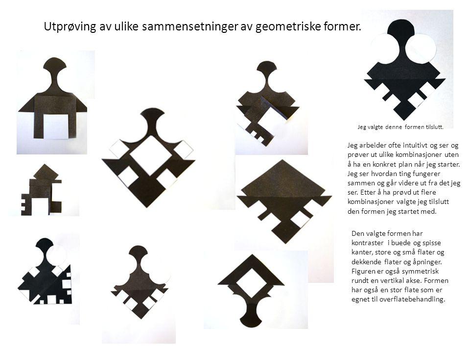 Utprøving av ulike sammensetninger av geometriske former.