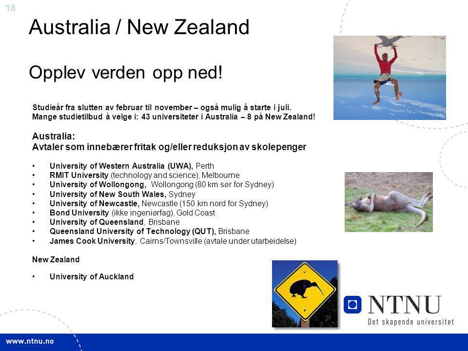 Australia / New Zealand Opplev verden opp ned!