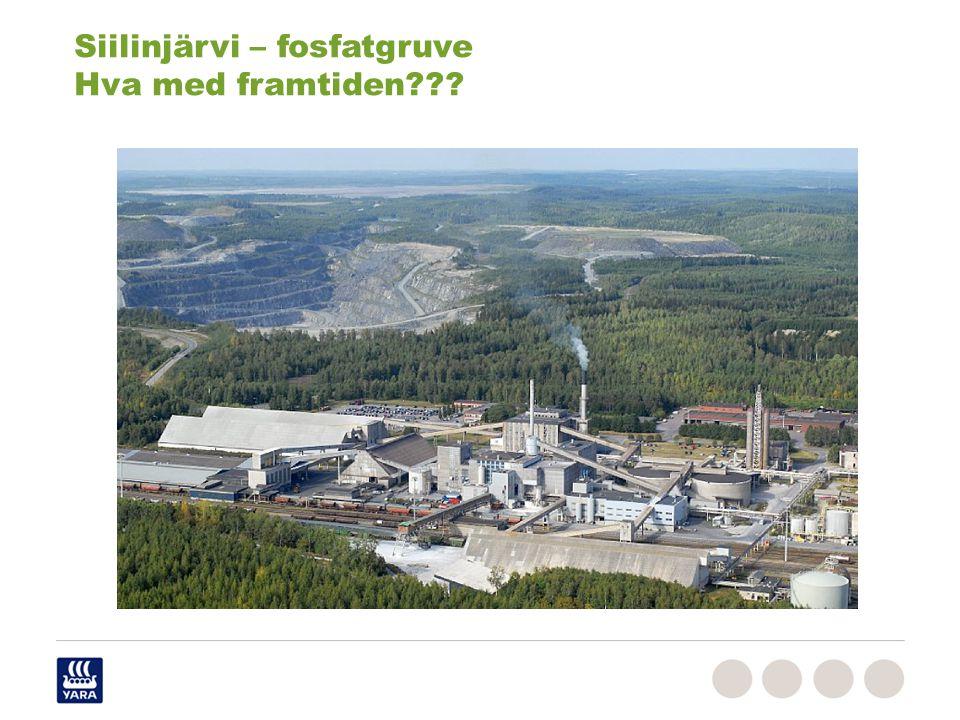 Siilinjärvi – fosfatgruve Hva med framtiden