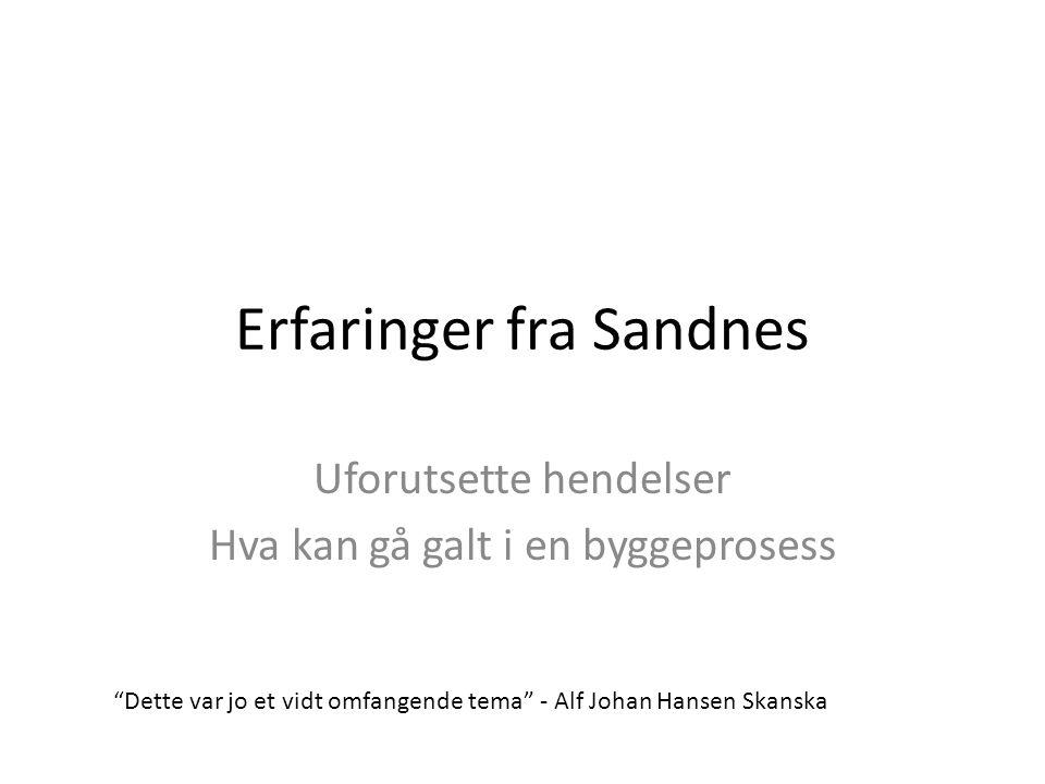 Erfaringer fra Sandnes