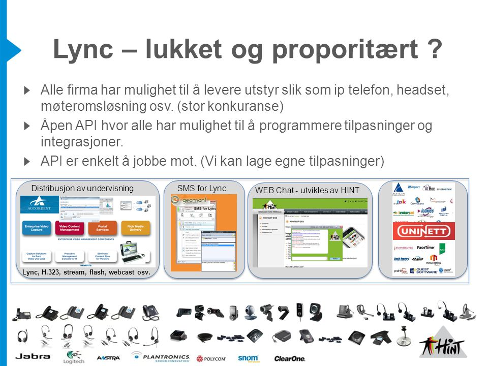 Lync – lukket og proporitært