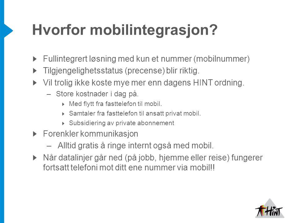 Hvorfor mobilintegrasjon