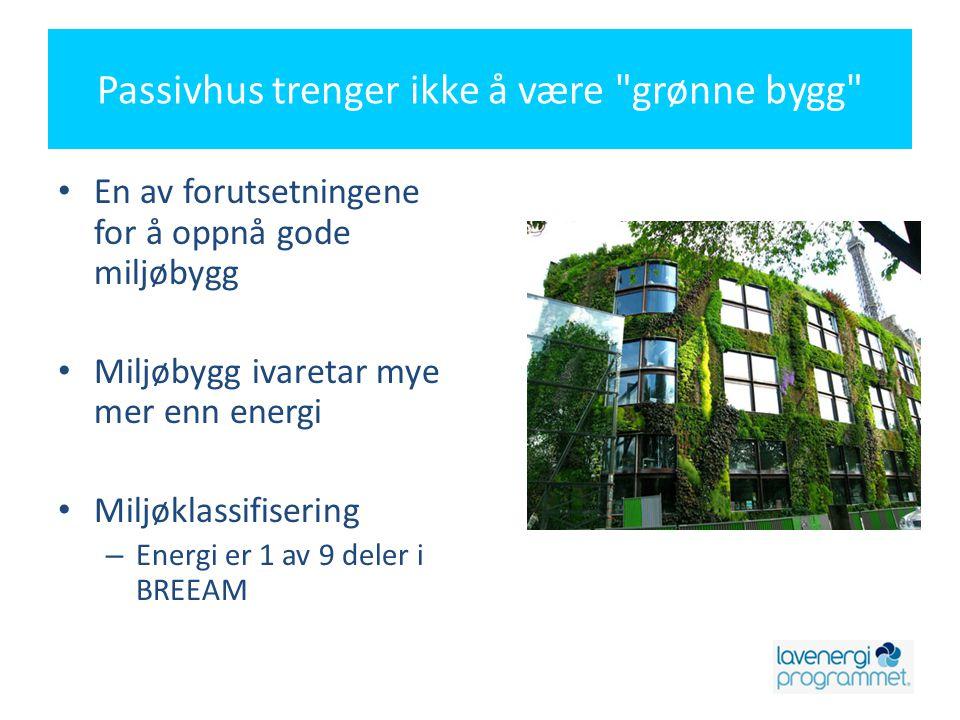 Passivhus trenger ikke å være grønne bygg