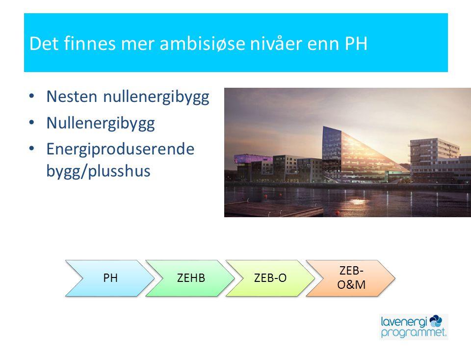 Det finnes mer ambisiøse nivåer enn PH