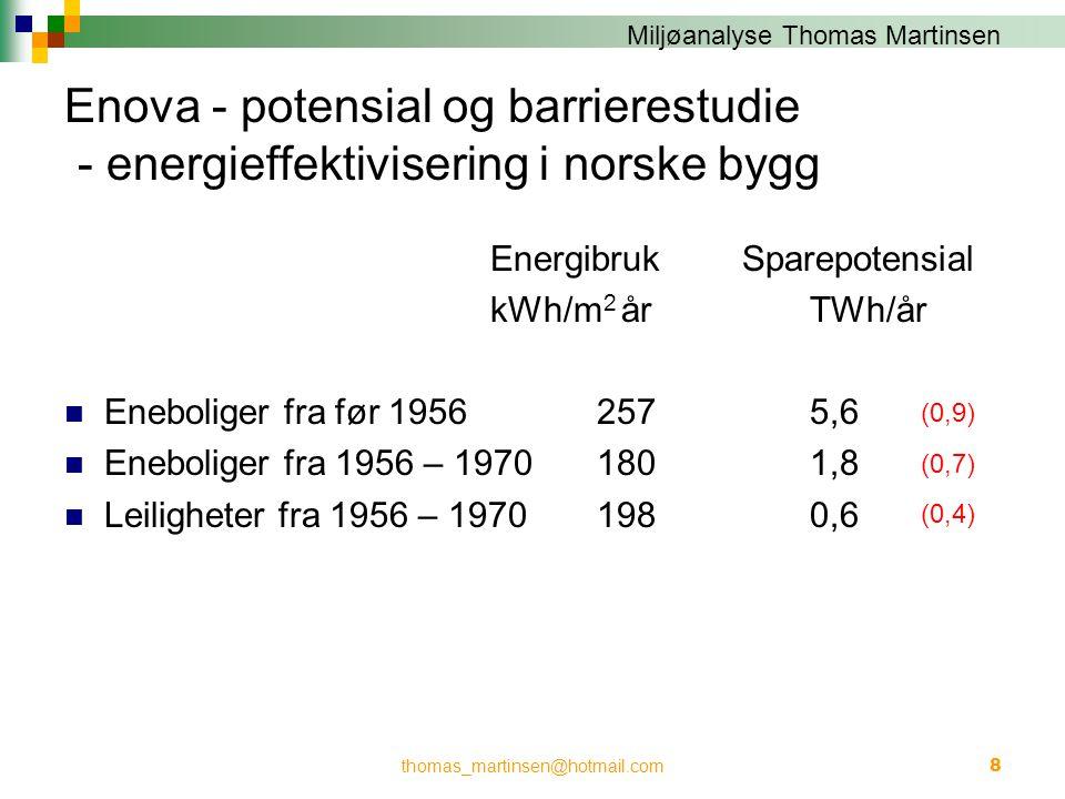 Enova - potensial og barrierestudie - energieffektivisering i norske bygg