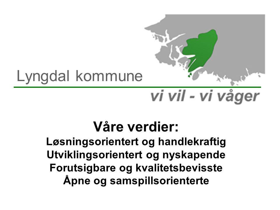Lyngdal kommune Våre verdier: Løsningsorientert og handlekraftig