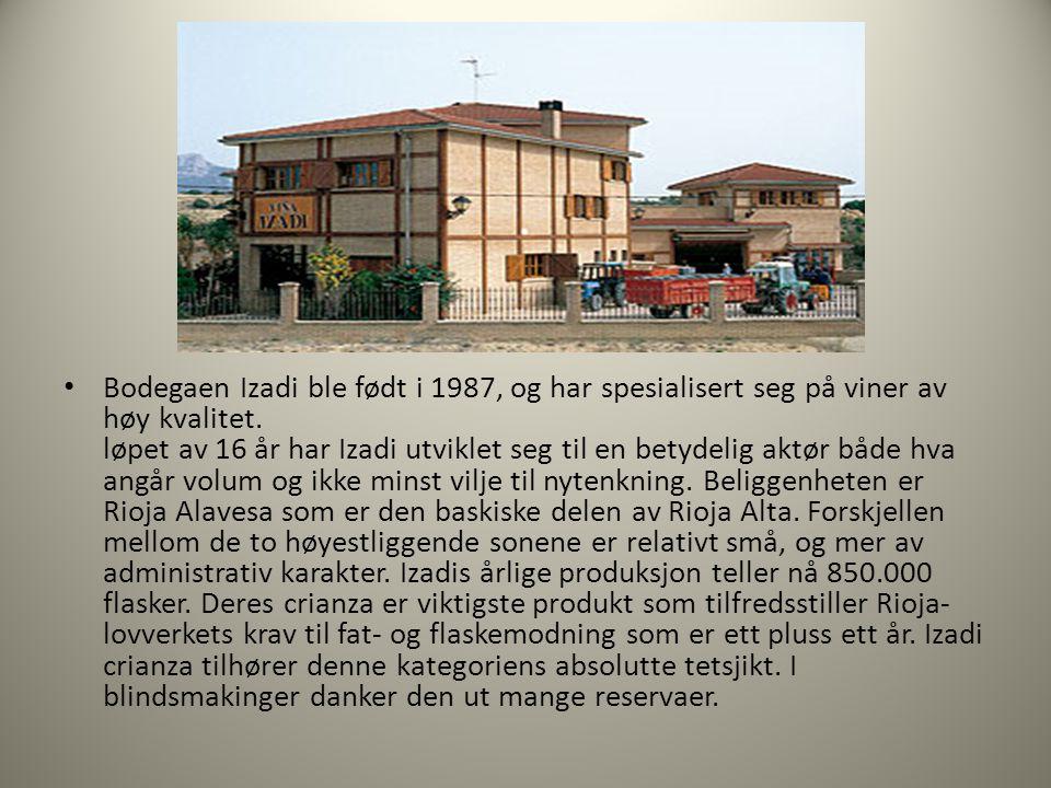 Bodegaen Izadi ble født i 1987, og har spesialisert seg på viner av høy kvalitet.