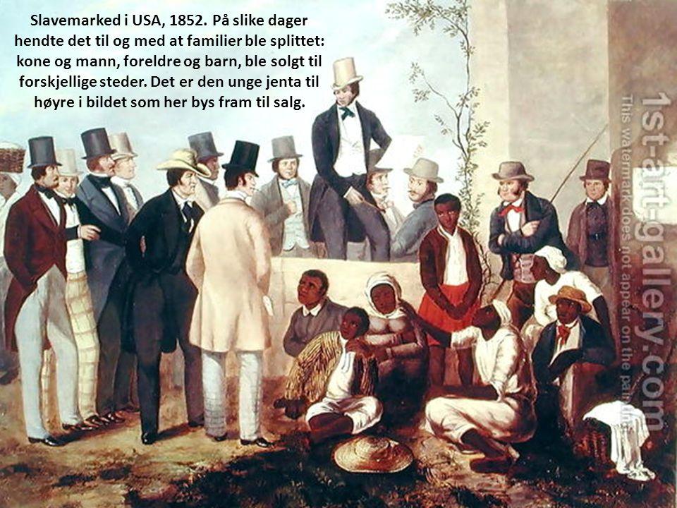 Slavemarked i USA, 1852.