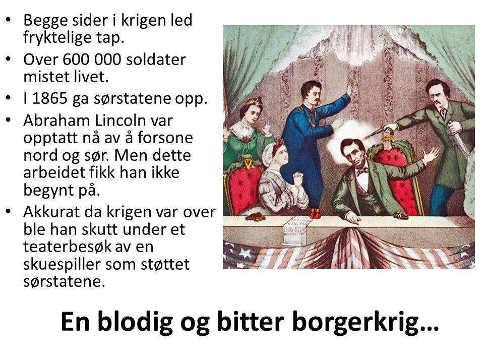 En blodig og bitter borgerkrig…