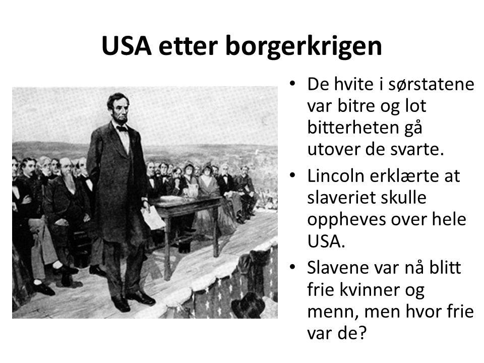 USA etter borgerkrigen
