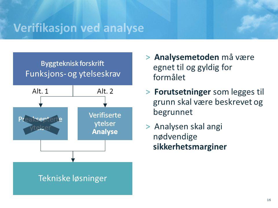 Verifikasjon ved analyse