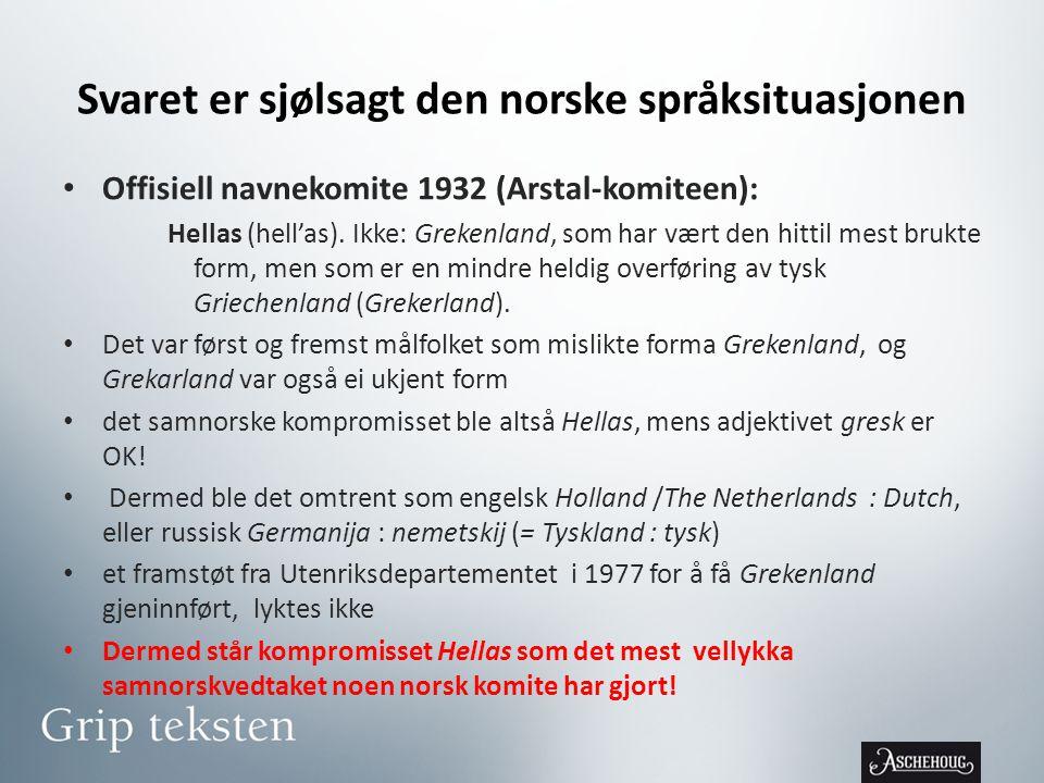 Svaret er sjølsagt den norske språksituasjonen